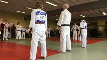 Les deux judokas du Kanido étaient en démonstration.