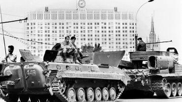L'armée soviétique dans les rues de Moscou le 19 août 1991