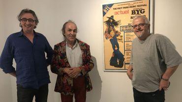 Yves, Bernard et Philippe ont monté une exposition sur le festival d'Amougies 1969.