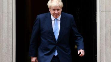 Le Premier ministre britannique Boris Johnson devant le 10 Downing Street, le 7 août 2019 à Londres