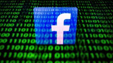 Photo d'illustration du logo Facebook, prise à Paris le 26 avril 2018