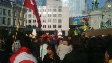 Manifestation de soutien aux opposants turcs à Bruxelles