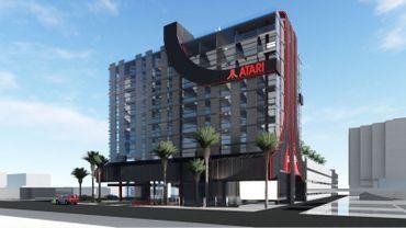 Une idée des futurs hôtels Atari aux Etats-Unis.