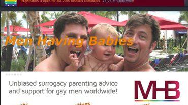 """Le site internet de """"Men Having Babies"""""""