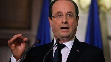 Le président français François Hollande, le 19 février 2013 à Athènes