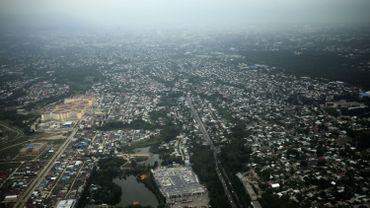 Vue aérienne de la ville d'Almaty