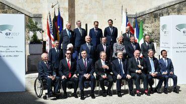 Les ministres des Finances du G7 réunis à Bari en Italie, le 13 mai 2017