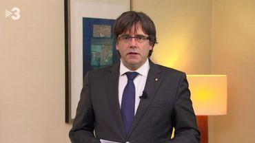 Carles Puigdemont s'exprimait depuis la Belgique à la télévision catalane.