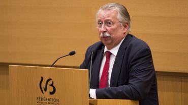 André Flahaut, ministre du Budget de la Fédération W-B