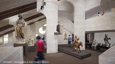 Scénographie du futur musée