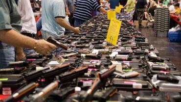 Illustration: un marché aux armes à Houston. Plus d'une fusillade de masse par jour, voilà l'affolante moyenne US en 2015