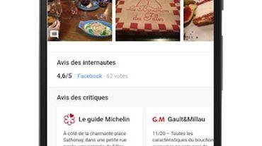 Google génère désormais les avis du Michelin et de Gault&Millau