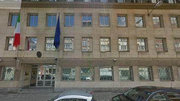 L'entrée de l'ambassade d'Italie à Bruxelles.