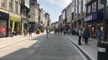 Un exemple de rue apaisée, chaussée d'Ixelles