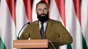 Jozsef Szajer en avril 2019 à Budapest