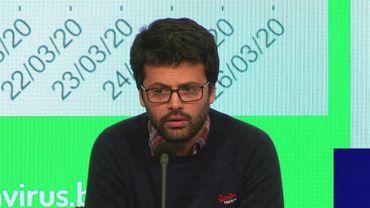 Emmanuel André, porte-parole du Centre de crise Covid-19.