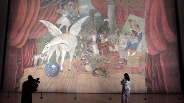 """La pièce maîtresse, """"Parade"""", se trouve dans l'un des immenses salons du Palais Barberini"""