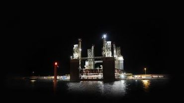 Une installation pétrolière de Repsol près de la côte des Canaries le 22 mars 2012