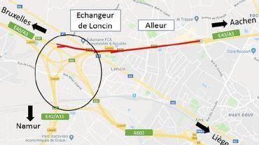 Lancement vendredi du chantier sur l'E40/A3 entre Alleur et Loncin