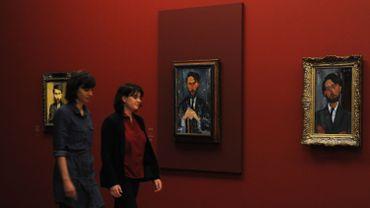 """Vue de l'exposition """"Amedeo Modigliani, l'oeil intérieur"""""""