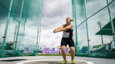 Vanessa Sterckendries améliore son record de Belgique du lancer du marteau