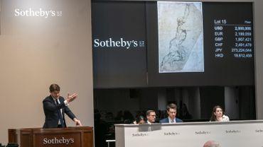 Une esquisse inédite du peintre flamand Pierre Paul Rubens, portée disparue pendant des siècles, a été vendue dimanche 1,3 million d'euros aux enchères.
