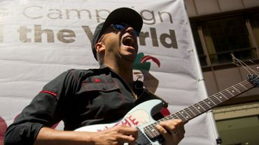 Tom Morello, guitariste du groupe Rage Against the Machine
