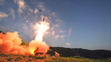 Photo du ministère sud-coréen de la défense montrant un tir de missile dans une région non précisée en Corée du sud, le 4 septembre 2017