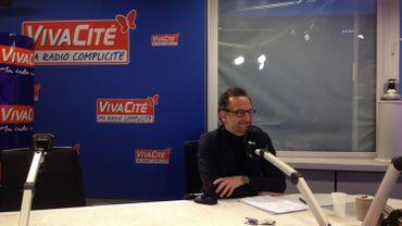 Boris Dilliès ce matin dans les studios de Viva Bruxelles