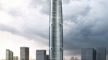 Le Wuhan Greenland Center, en Chine, par Adrian Smith + Gordon Gill Architecture.