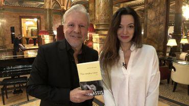 Thierry Bellefroid et Eliette Abécassis sur le tournage de Sous Couverture