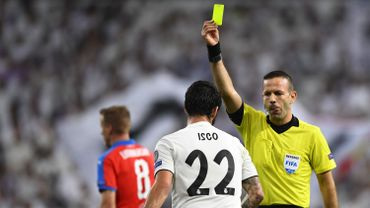 Orel Grinfeld avertit ici le joueur du Real Madrid Isco