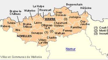 Le Brabant wallon c'est 27 communes
