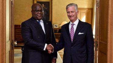 Le Président congolais et le Roi Philippe lors de la visite officielle de Félix Tshisekedi à Bruxelles en septembre 2019
