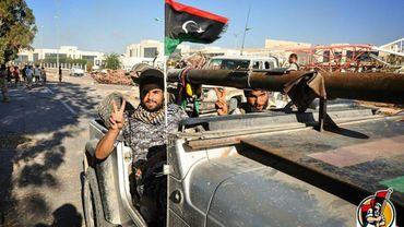 Des soldats des forces gouvernementales libyennes à Syrte, le 10 août 2016