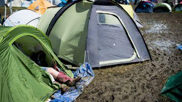 Le camping de Werchter en 2016.