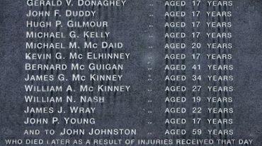 Un monument dédié aux victimes du Bloody Sunday à Londonderry, en Irlande du Nord le 15 juin 2010