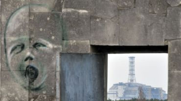 La zone hautement radioactive entourant la centrale de Tchernobyl.