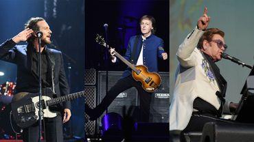 Eddie Vedder, Paul McCartney, Elton John