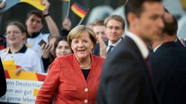 La chancelière allemande Angela Merkel, le 11 septembre 2017 à Lübeck