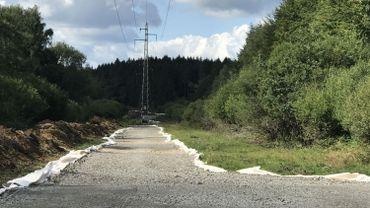 Chantier Boucle de l'Est : des accès surélevés et temporaires vers les pylônes électriques