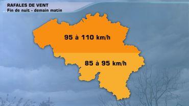 Alerte vent : des rafales proches des 100 km/h cette nuit et ce jeudi matin