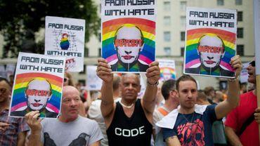 Vladimir Poutine est  pour certains le symbole de l'homophobie russe.