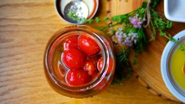 Recette de Candice : Tomates cerise au vinaigre