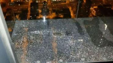 Chicago: A 527 mètres, le sol de verre craque sous leurs pieds (vidéo)