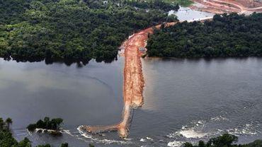 Le site où sera construit le barrage de Belo Monte
