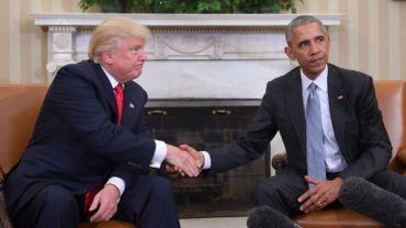 Donald Trump et Barack Obama.