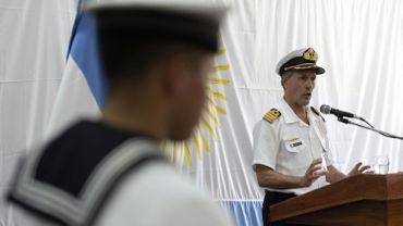 Le capitaine Enrique Balbi, porte-parole de la marine argentine.