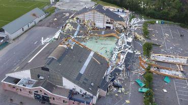 Le hall avait été ravagé par une tempête il y a un peu plus d'un an.