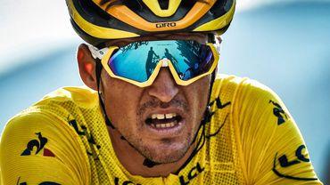 Le Belge Greg Van Avermaet, porteur du maillot jaune lors de la 105eme édition du Tour de France. Il finira 4ème au classement géneral à Paris, juste au pied du podium.